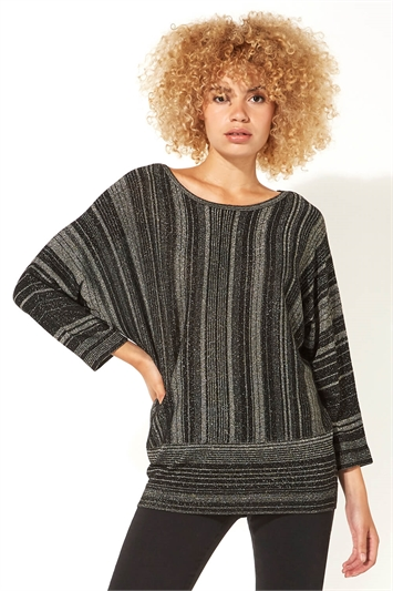 Mixed Stripe Lurex Jumper