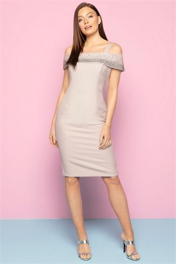 Hotfix Cold Shoulder Dress