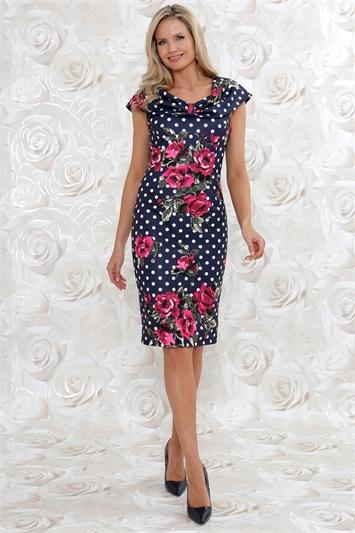 Julianna Floral Spot Print Dress