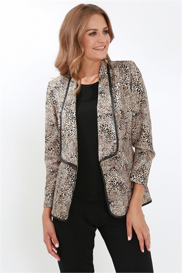 Julianna Leopard Print Jacket