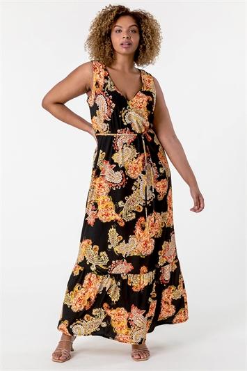 Curve Paisley Print Maxi Dress