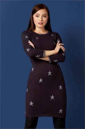 Lurex Star Knitted Dress