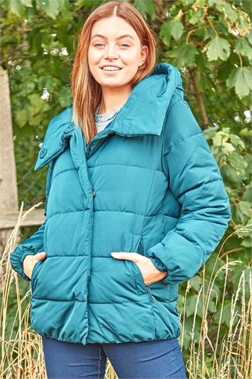 Short Duvet Wrap Padded Coat