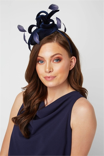 Velvet Feather Pillbox Fascinator
