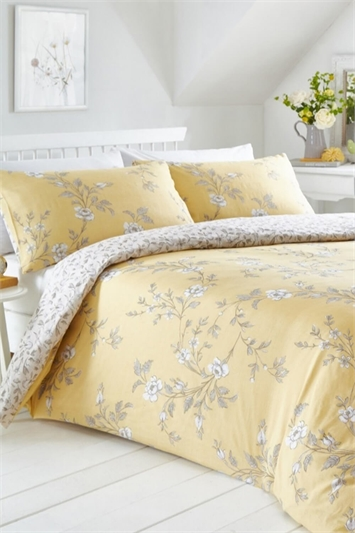 King Size Yasmina Ochre Duvet Cover Set