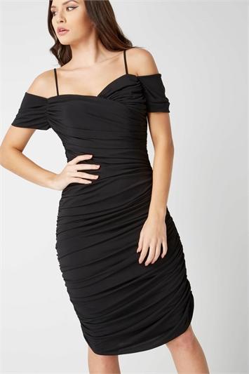 Off the Shoulder Ruched Waist Dress