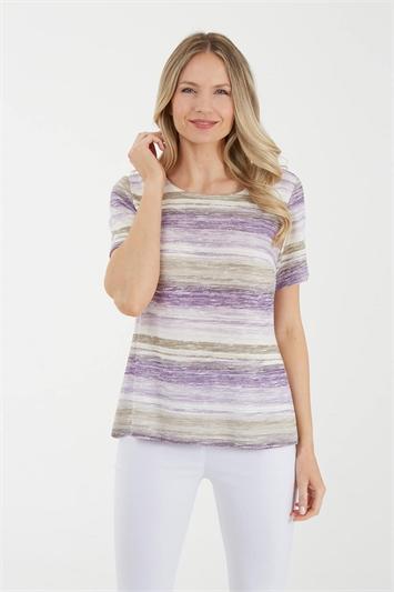 Julianna Stripe Print T-Shirt