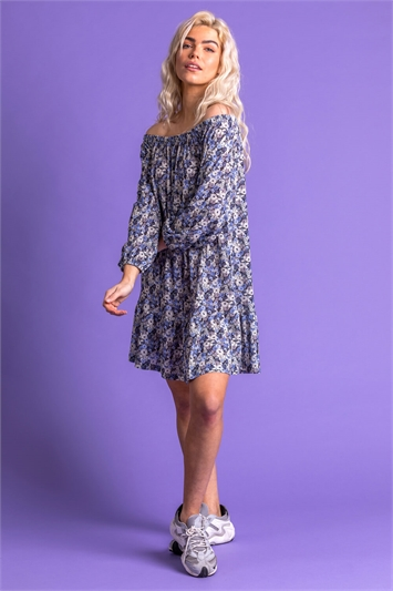 Ditsy Floral Bardot Dress