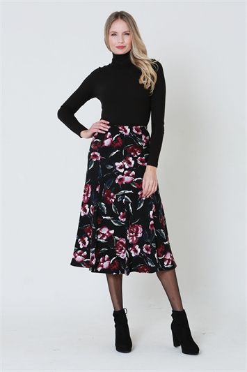 Julianna Floral Printed Midi Skirt