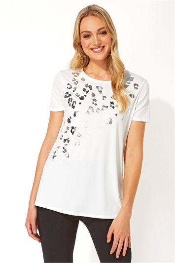 Foil Animal Print T-Shirt