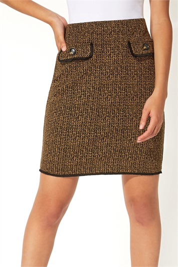 Two Tone Textured Skirt