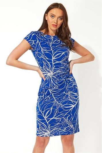 Abstract Print Twist Dress