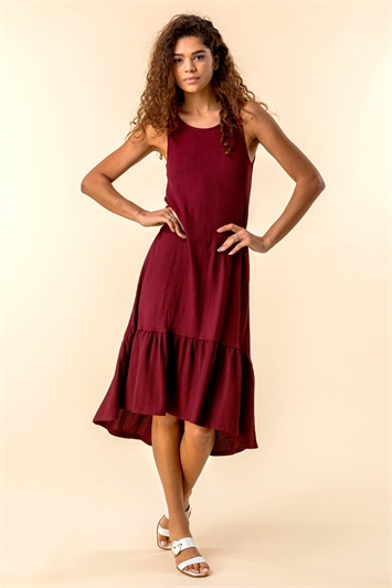 Textured Frill Hem Dress