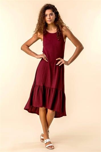 Textured Frill Hem Dress