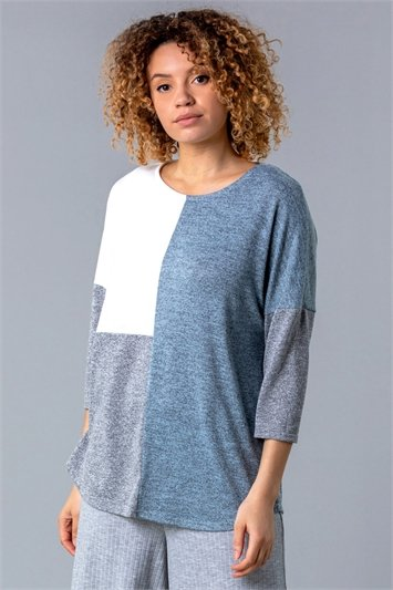 Colour Block Melange Lounge Top