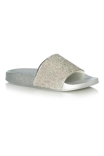 Diamante Slider Flat Sandal