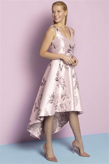 Rose Jacquard Rose Gown Dress