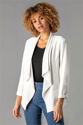 Waterfall Front Bow Sleeve Jacket