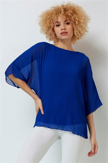Pleated Chiffon Overlay Top