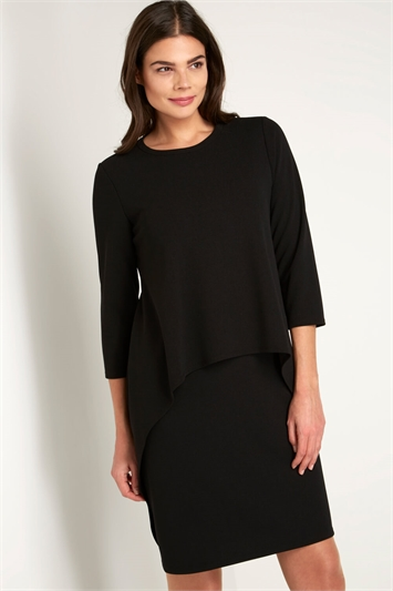 Double Layer 3/4 Sleeve Dress
