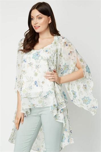 Lightweight Lurex Floral Kimono