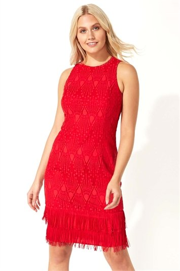 Lace Tassel Sleeveless Flapper Dress