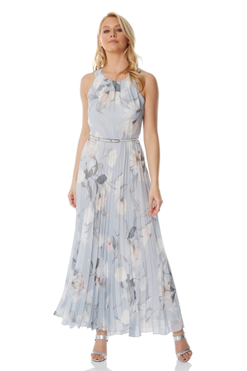 Ladies Summer Holiday Going Out Everyday Casual Wedding Guest Mother of The Bride Groom Special Occasion Dress Roman Originals Women Floral Halter Neck Maxi Dress