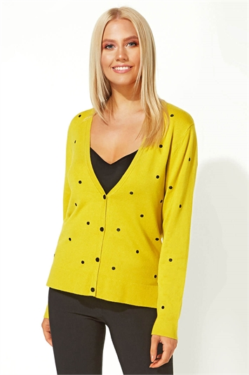 Spot Embroidered Cardigan
