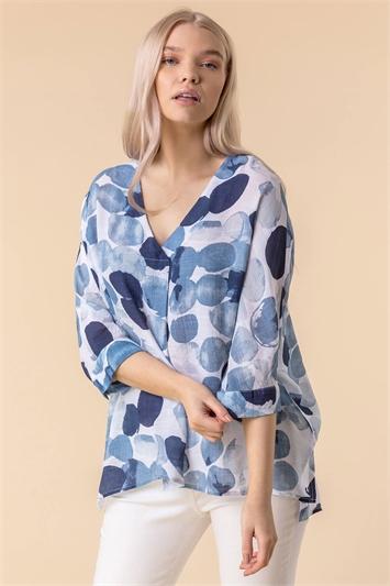 Abstract Spot Print Shirt