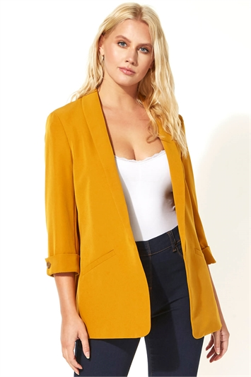 Yellow 3/4 Sleeve Jacket