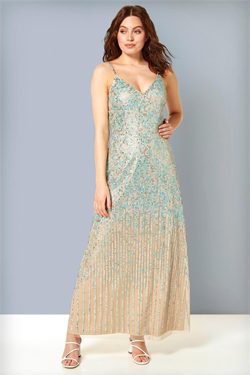 Sequin Mermaid Maxi Gown