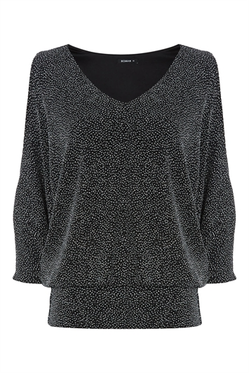 Sparkle Blouson Top