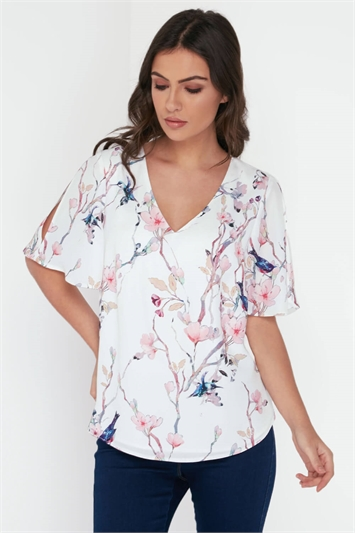 Botanical Angel Sleeves Top