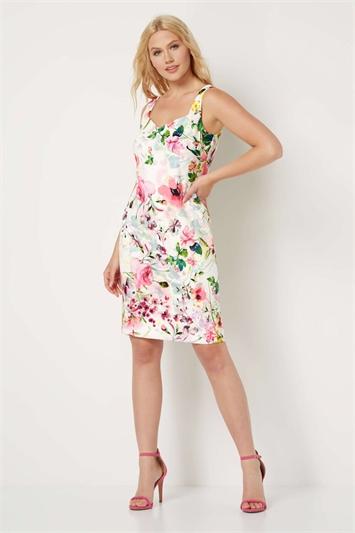 Floral Print Scuba Dress