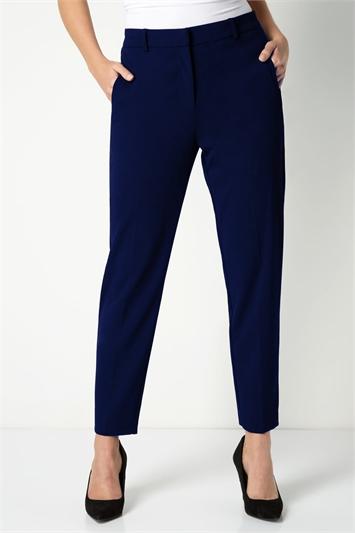 Navy Short Straight Leg Tapered Trouser, Image 1 of 3