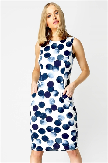 Spot Print Dress with pockets