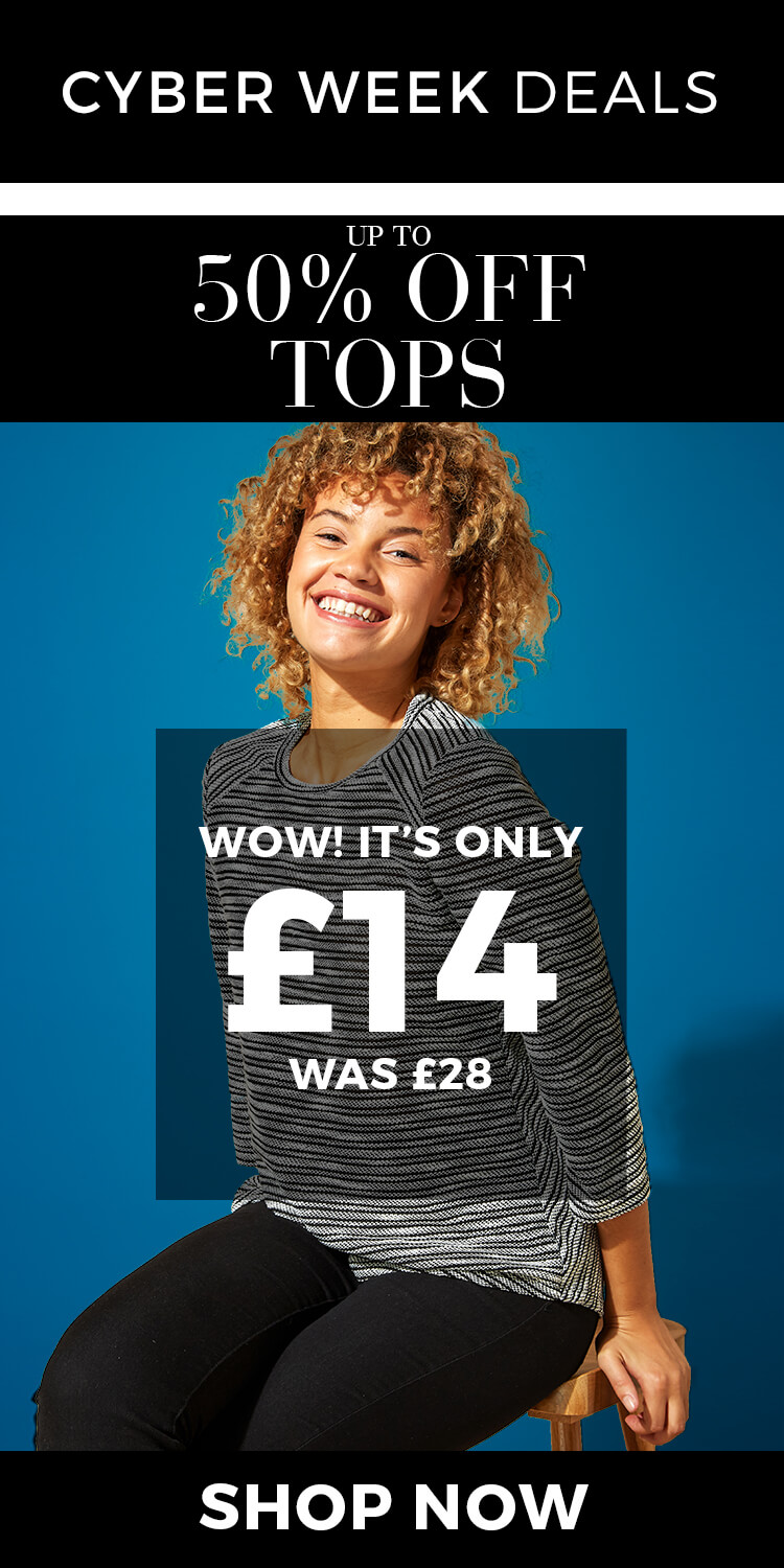 Tops up to 50% off - SHOP NOW >