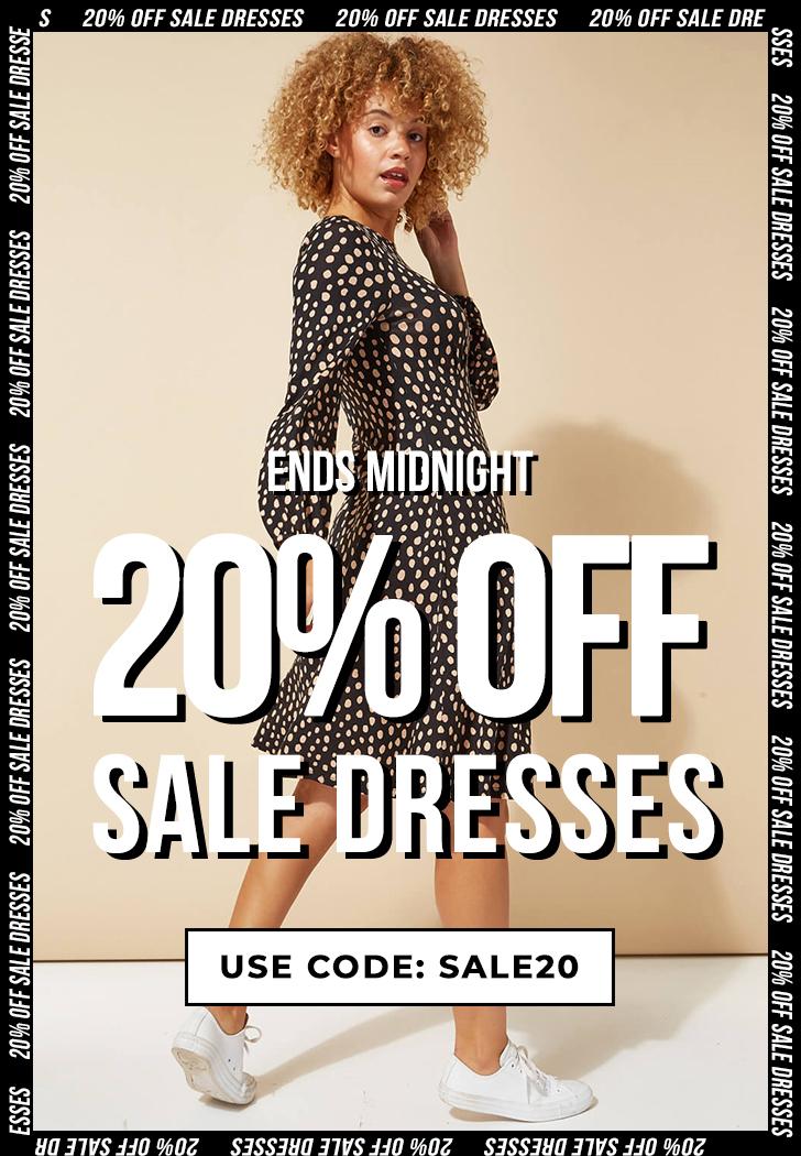 20% OFF ALL SALE DRESSES - SHOP NOW >