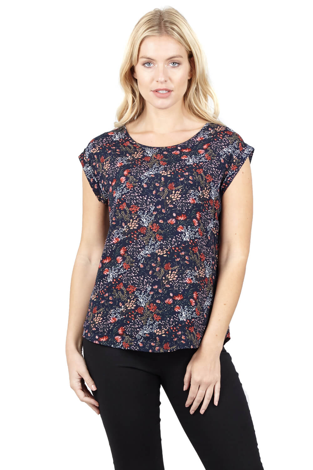 izabel london ditsy floral shell top