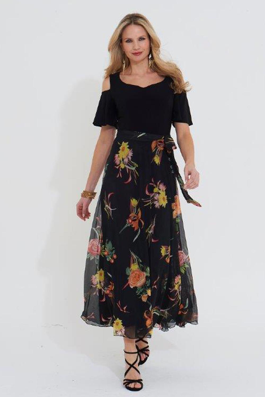 Roman Originals Floral Print Maxi Dress in Multi