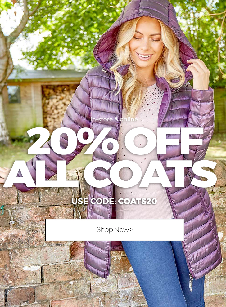 20% Off Coats - Shop Now >